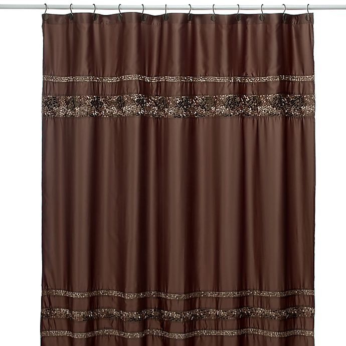 Alternate image 1 for Croscill® Mosaic Tile 70-Inch x 75-Inch Fabric Shower Curtain