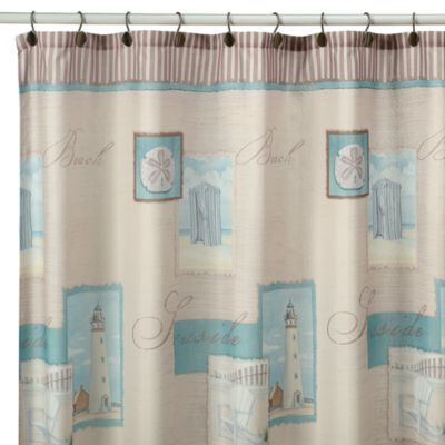 Coastal Collage Fabric Shower Curtain Bed Bath And