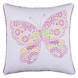 Levtex Home Nova Neta Printed Butterfly Square Throw Pillow in Pink