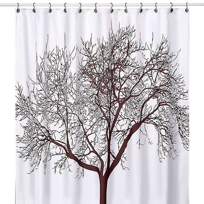 Tree Brown 70 Inch X 72 Fabric Shower Curtain