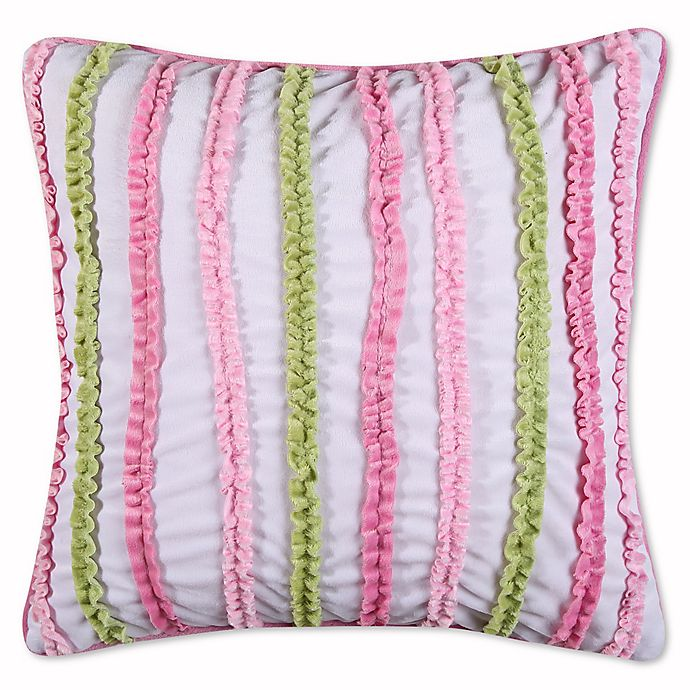 Alternate image 1 for Levtex Home Paige Ruched Oblong Throw Pillow in Pink/Green