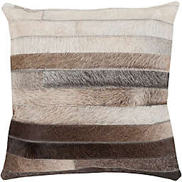 Style Statements by Surya Cela Square Throw Pillow in Charcoal
