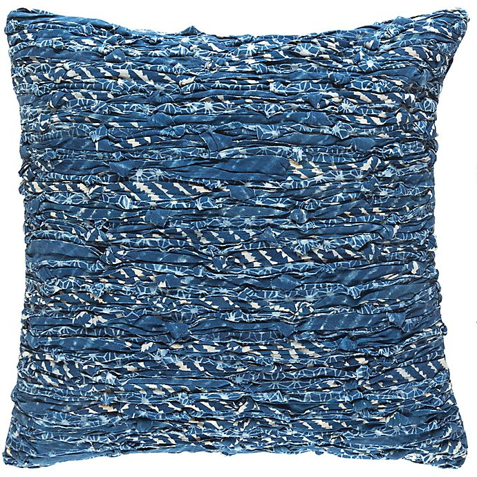 Alternate image 1 for Style Statements by Surya Reena 18-Inch Square Throw Pillow in Navy