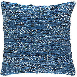 Style Statements by Surya Reena 18-Inch Square Throw Pillow in Navy