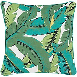 Statements By Surya Gilma Square Throw Pillow in Emerald