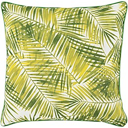 Statements By Surya Marcene Square Throw Pillow in Lime