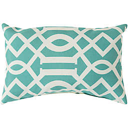 Style Statements by Surya Soli Oblong Throw Pillow in Teal