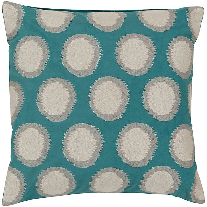 Alternate image 1 for Style Statements by Surya Altamura 18-Inch Square Throw Pillow in Teal