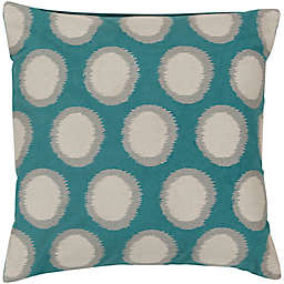 Style Statements by Surya Altamura 18-Inch Square Throw Pillow in Teal