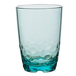 Pebbles Double Old Fashioned Glass in Turquoise