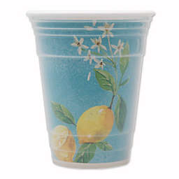 Lemon Double-Wall Highball Glass