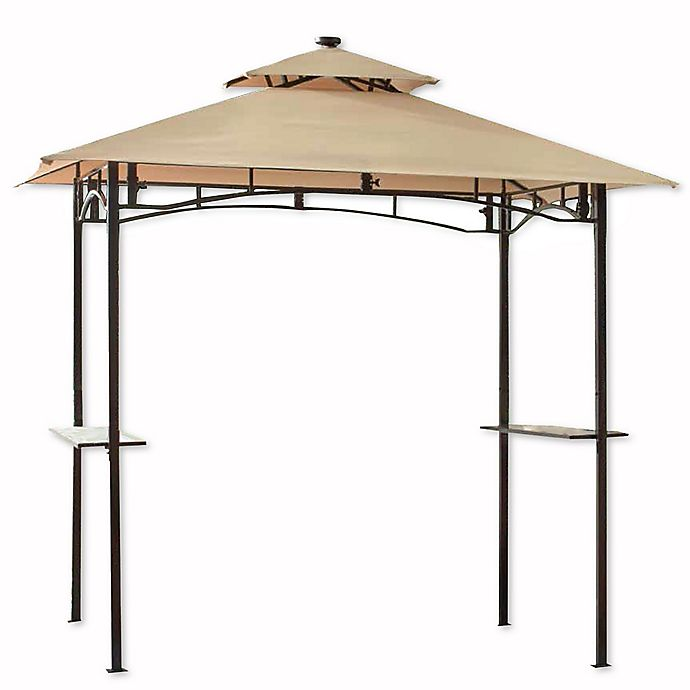 Alternate image 1 for 8-Foot x 5-Foot Grillzebo with Solar Light in Beige