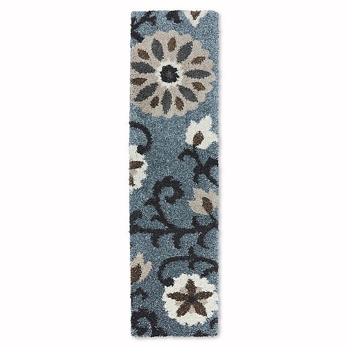Alternate image 1 for Mohawk Home Augusta Hazelhurst Abyss 2-Foot x 7-Foot 10-Inch Runner in Blue
