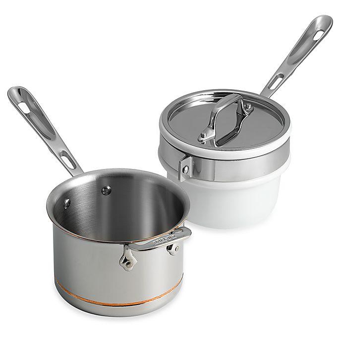 All Clad Copper Core 2 Quart Saucepan With Porcelain