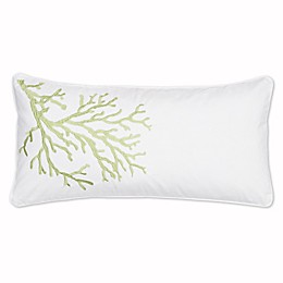 Levtex Home Arielle Embroidered Coral Oblong Throw Pillow