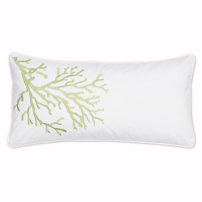 Alternate image 1 for Levtex Home Arielle Embroidered Coral Oblong Throw Pillow