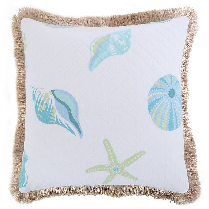 Alternate image 1 for Levtex Home Southport Quilted Shell Throw Pillow with Fringe