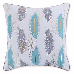 Levtex Home Elia Feathers Throw Pillow in Teal/White