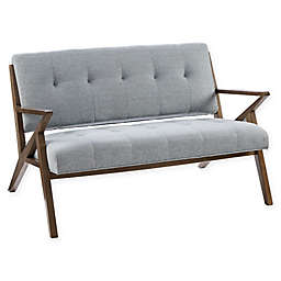 INK+IVY® Rocket Loveseat in Light Blue/Pecan