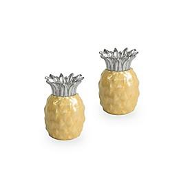 Julia Knight® Exotic Tropics Pineapple Salt and Pepper Shakers in Saffron