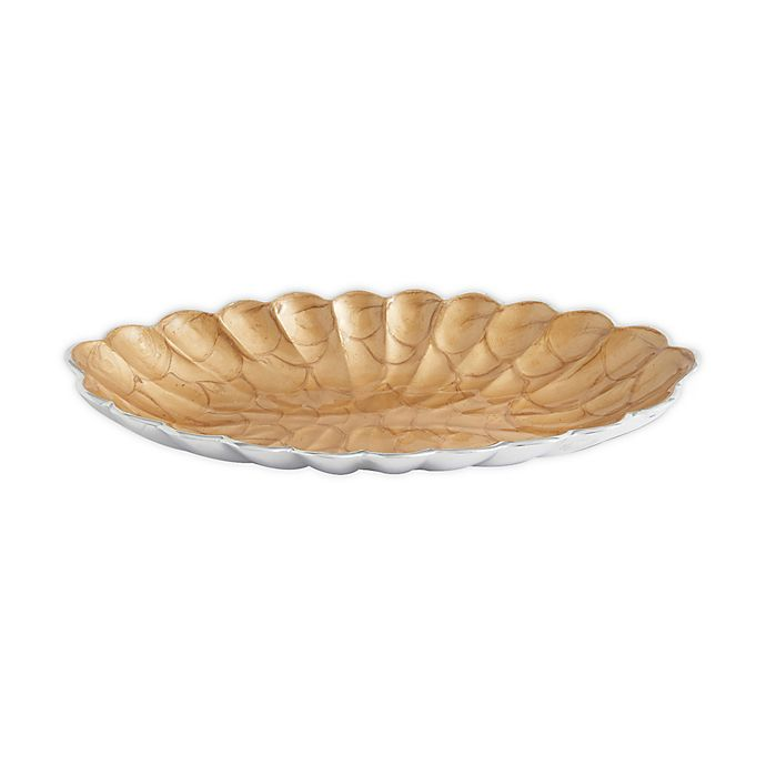 Alternate image 1 for Julia Knight® Peony 16-Inch Oval Bowl in Toffee