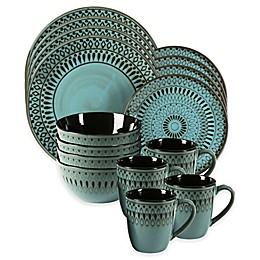 American Atelier Delilah 16-Piece Dinnerware Set in Blue