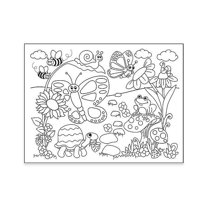 Alternate image 1 for Garden Coloring Placemat with 4 Crayons