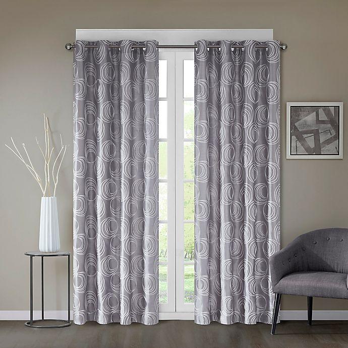 Alternate image 1 for Regency Heights® Cosma 84-Inch Grommet Window Curtain Panel in Platinum