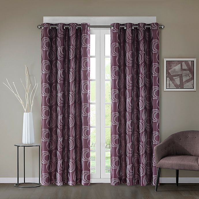 Alternate image 1 for Regency Heights® Cosma 95-Inch Grommet Window Curtain Panel in Amethyst