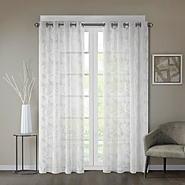 Regency Heights® Cosma Sheer Grommet Window Curtain Panel in White