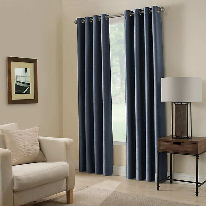 Alternate image 1 for Paradise 108-Inch Room Darkening Grommet Top Window Curtain Panel in Indigo