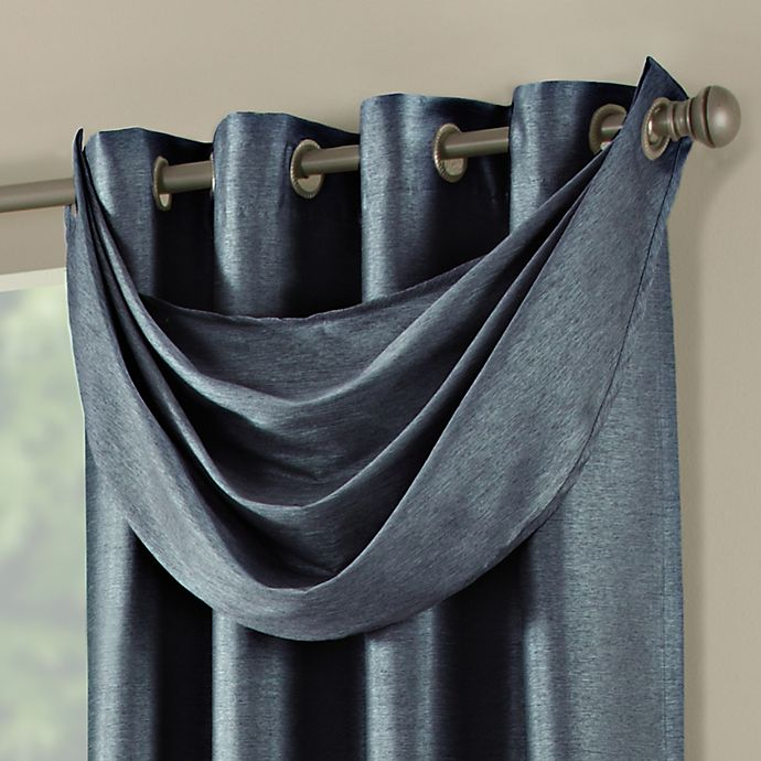 Alternate image 1 for Paradise Waterfall Window Valance in Indigo