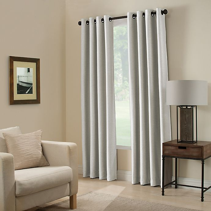 Alternate image 1 for Paradise 108-Inch Room Darkening Grommet Top Window Curtain Panel in Silver