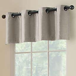 Paradise Room Darkening 52-Inch Grommet Window Valance in Silver