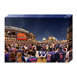 MLB Chicago Cubs Win 36-Inch x 24-Inch Canvas Wall Art