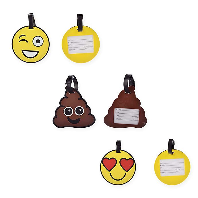 Alternate image 1 for Formations Emoji Luggage Tags