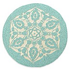 Beaded Placemat in Jute/Blue