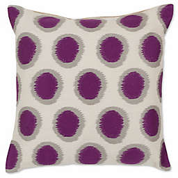Style Statements by Surya Altamura 20-Inch Square Throw Pillow in Purple