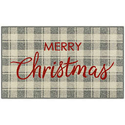 Holiday Plaid 1'8 x 2'10 Accent Rug in Red