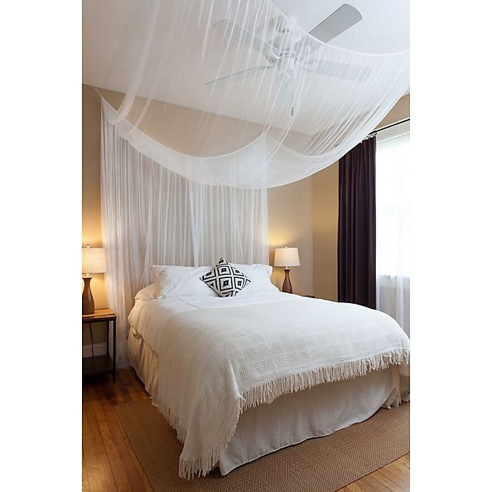 Alternate image 1 for Cirrus Galaxie 4-Poster Bed Canopy in White
