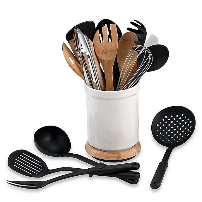 Alternate image 1 for Denmark® Rotating 17-Piece Utensil Crock Set