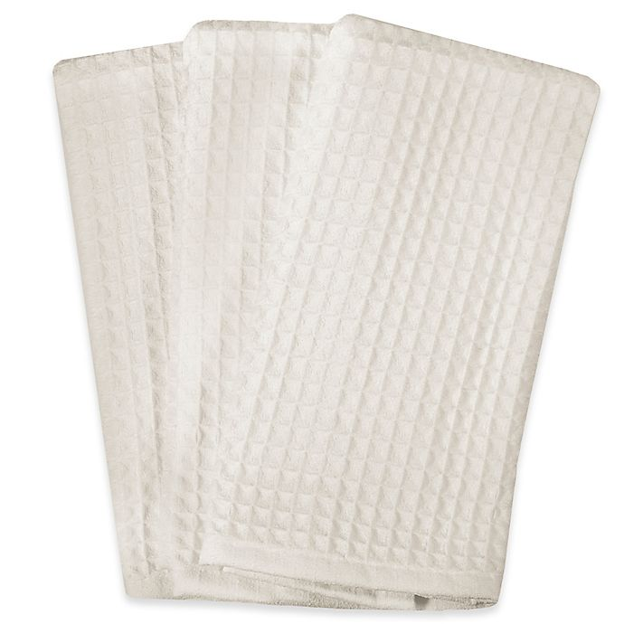 Real Simple® Microfiber Kitchen Towels in White (Set of 3)