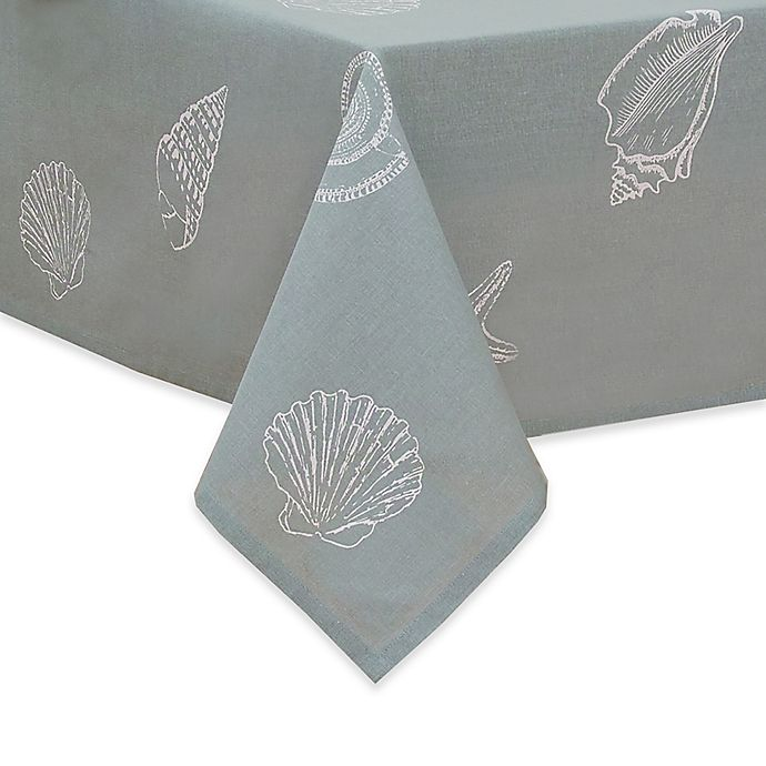 Alternate image 1 for Shell Season Fabric Tablecloth