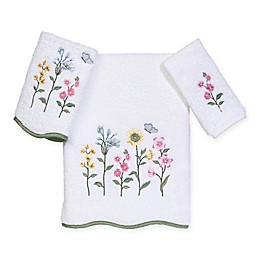 Avanti Premier Country Floral Bath Towel Collection in White