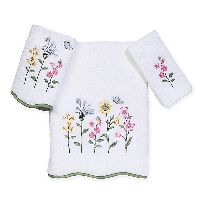 Alternate image 1 for Avanti Premier Country Floral Bath Towel Collection in White