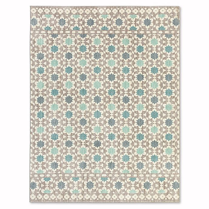 Alternate image 1 for Mohawk Home Cascade Heights Lattice Tiles 8-Foot x 10-Foot Area Rug in Grey