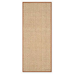 Safavieh Natural Fiber Johanna 2-Foot 6-Inch x 8-Foot Runner in Natural/Brown