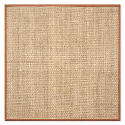 Safavieh Natural Fiber Johanna 4-Foot x 4-Foot Accent Rug in Natural/Brown