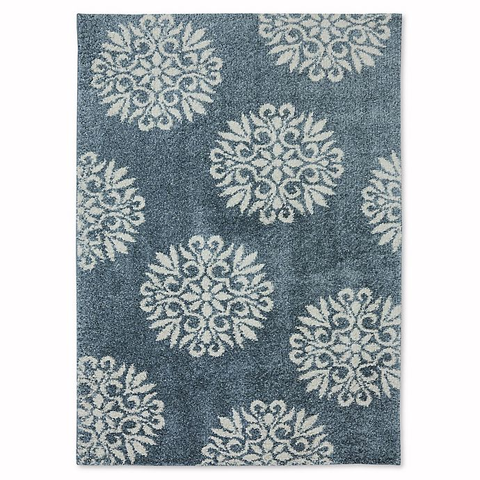 Alternate image 1 for Mohawk Home Huxley Exploded Medallions Rug in Bay Blue