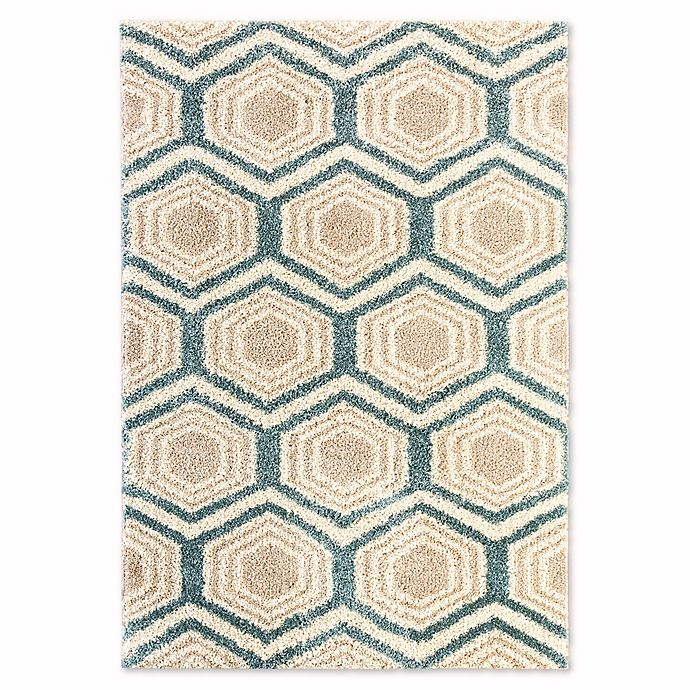 Mohawk Home Huxley Five Forks Area Rug In Bay Blue Bed
